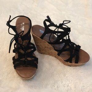 Mossimo Black sandal size 8 high heel